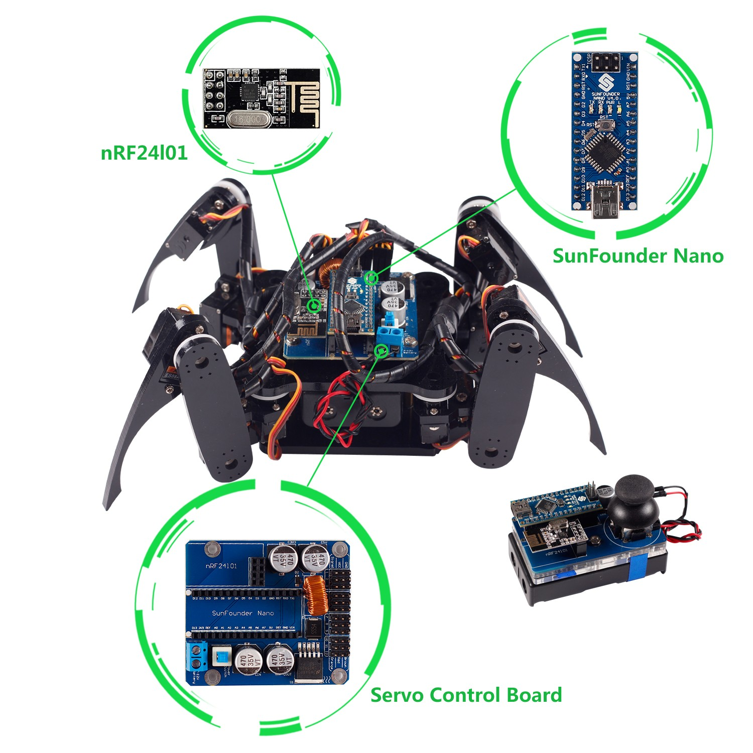 Crawling quadruped robot kit for arduino plaz tech